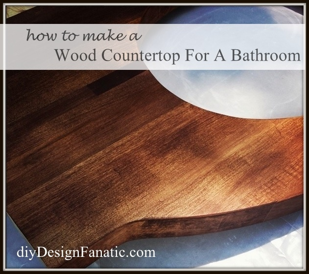 Bathroom Counter Redo Wood Budget Ideas Countertops Diy How To