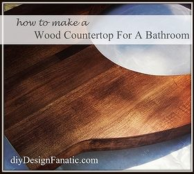 Bathroom Counter Redo Wood Budget, Bathroom Ideas, Countertops, Diy, How To,