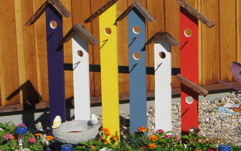 Birdhouse Trellis (Fence) of Many Colors