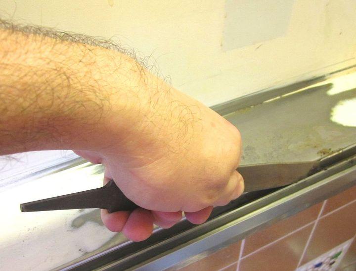 Pic-4. Metal filing a raised bump of rust.