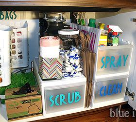 How To Organize Under The Kitchen Sink - House Designer Today •