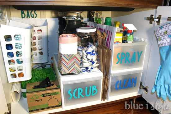 Tips for Organizing Under the Kitchen Sink | Hometalk