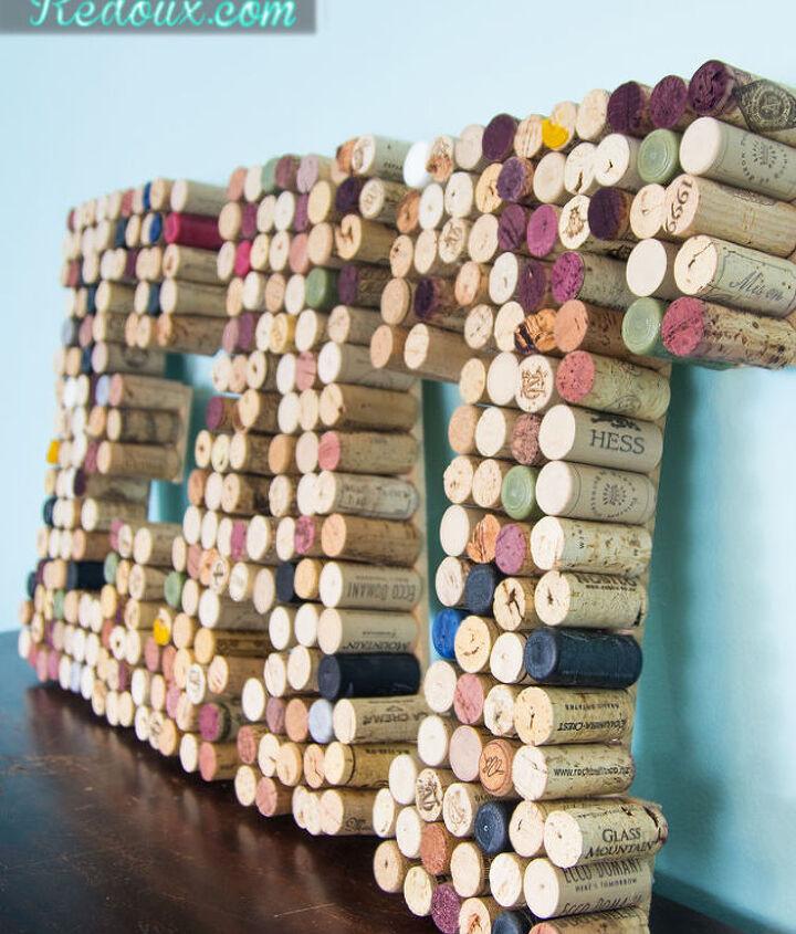 diy wine cork letter art eat, crafts, home decor, repurposing upcycling