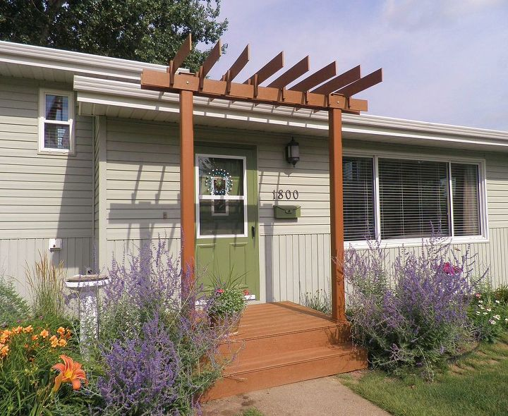 curb appeal pergola front porch addition, curb appeal, decks, outdoor  living, woodworking - New Pergola For A Front Porch Curb Appeal Hometalk