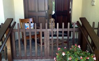 diy porch fence gate, diy, fences, outdoor living, porches, woodworking projects