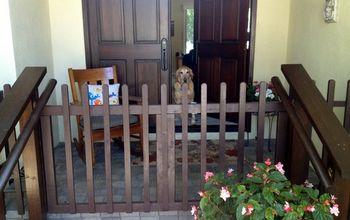 DIY Porch Fence & Gate