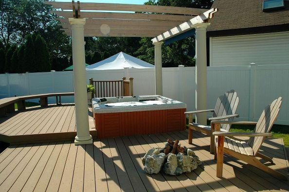 Hot Tub Deck with Pergola