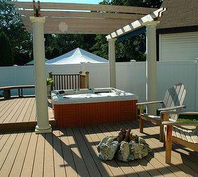 Backyard Ideas Budget Friendly Inspiration, Decks, Outdoor Living, Patio,  Spas, Hot