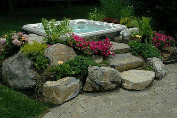 Hot Tub 'In-Garden' Effect