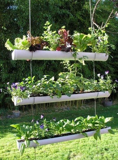 garden ideas small space solution gutter planters gardening repurposing upcycling