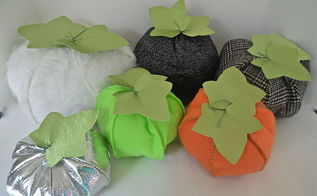 crafts stuffed fabric pumpkins tutorial fall, crafts, halloween decorations, seasonal holiday decor