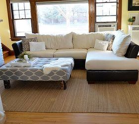 How To Recover Microfiber Sectional Couch, Home Decor, How To, Reupholster