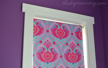 Cover a Black Out Roller Shade With Fabric