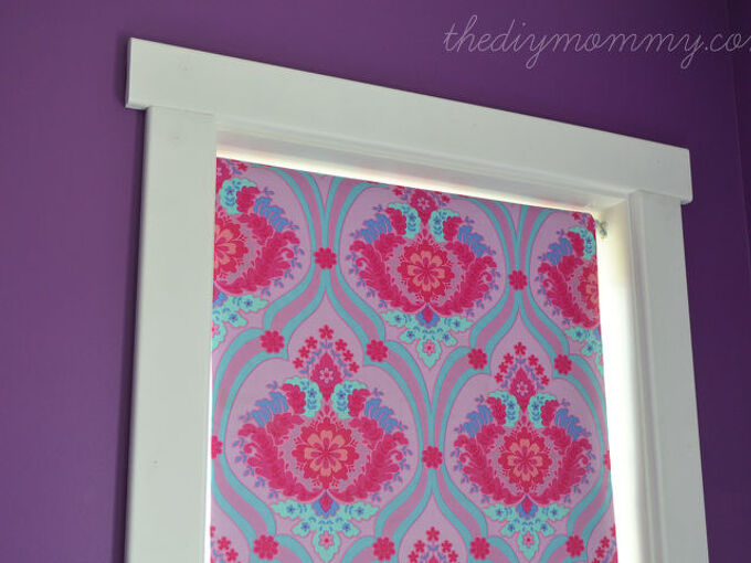 diy blind cover blackout fabric, home decor, reupholster, window treatments, windows