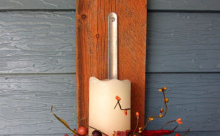 diy candle holder reclaimed wood fall, repurposing upcycling, wall decor, woodworking projects