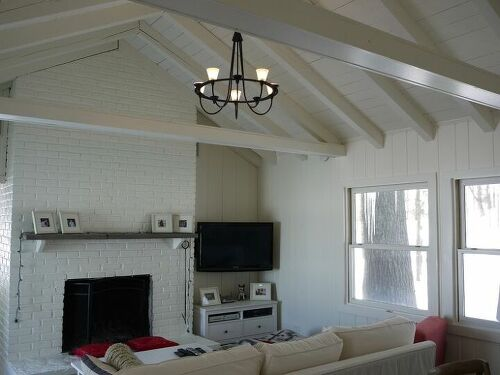 what to do with paneling in a dated living room hometalk. Black Bedroom Furniture Sets. Home Design Ideas