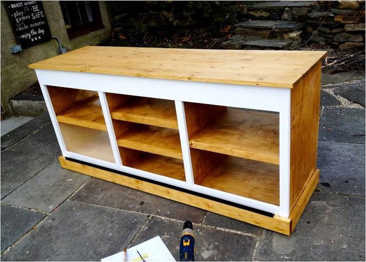woodworking console from scratch knockoff, dining room ideas, diy, how to, living room ideas, woodworking projects