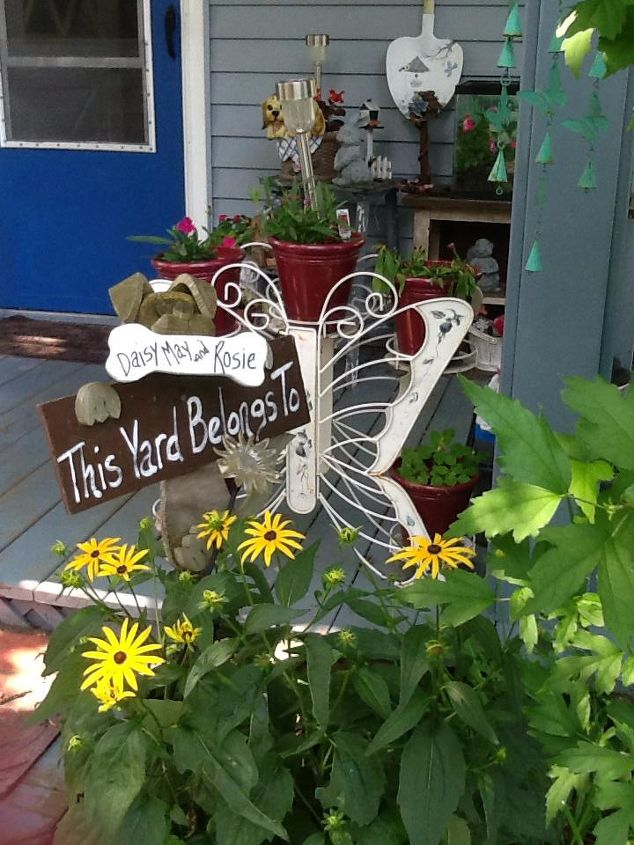 pretty perfect porch for pooches, container gardening, flowers, gardening, pets animals, porches