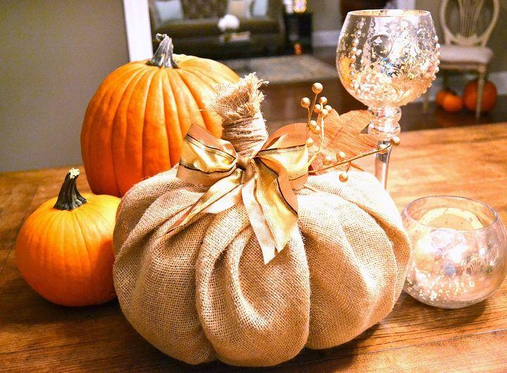how to burlap pumpkin decor, crafts, seasonal holiday decor