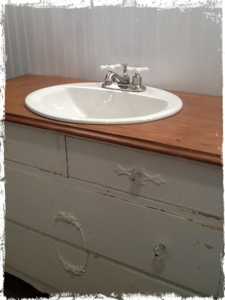 bathroom ideas old dresser to vanity upcycle, bathroom ideas, painted furniture, repurposing upcycling, Finished and beautiful