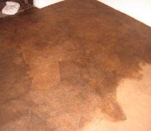 floors brown paper bag, diy, flooring, repurposing upcycling, Applying a rich stain