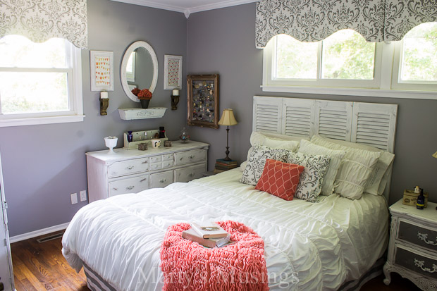 coral bedroom ideas. gray and coral bedroom makeover diy thrift from top to bottom  ideas Gray Coral Bedroom Makeover DIY Thrift From Top