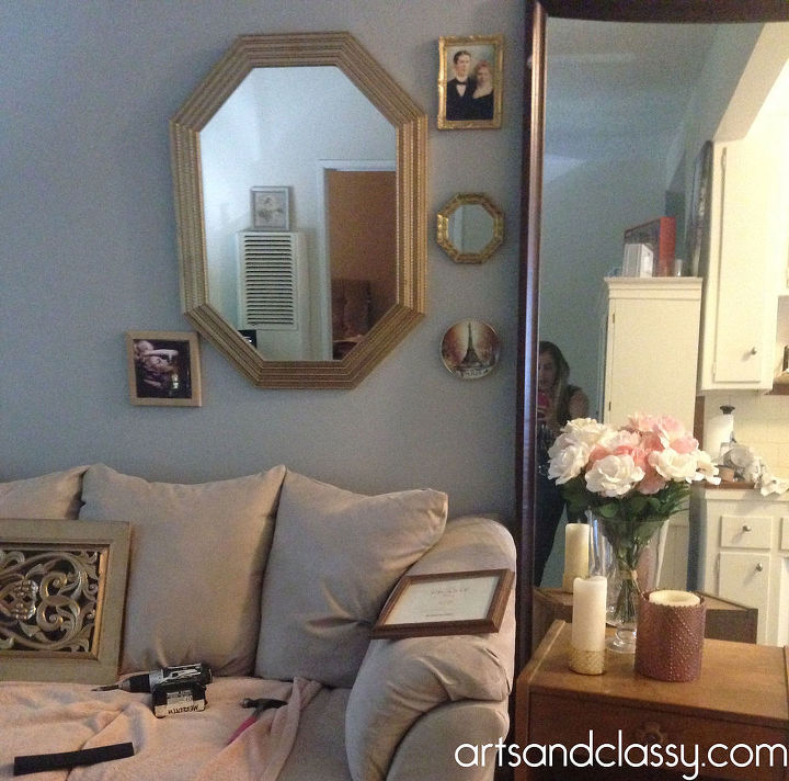 Do It Yourself Gold Octagon Mirror Revamp