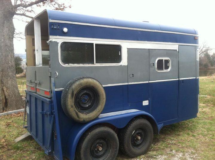 horse trailer make over, diy, repurposing upcycling