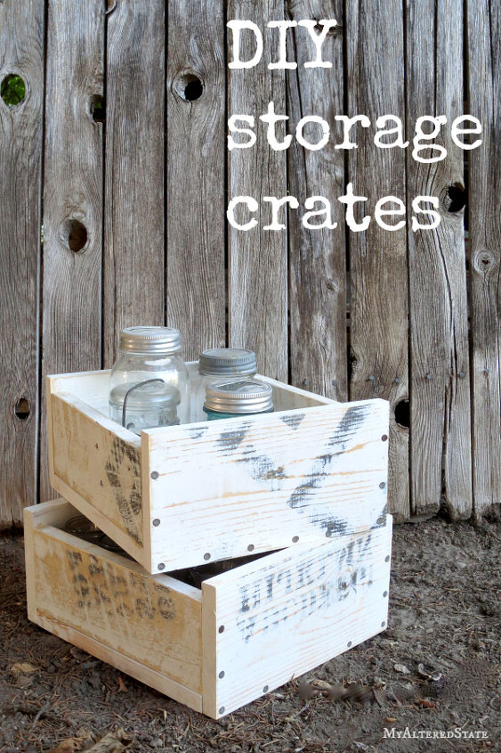 diy stackable storage crates my altered state, diy, storage ideas, woodworking projects