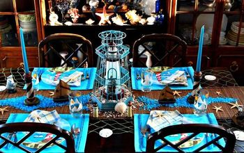 Nautical Tablescape With Lighthouses
