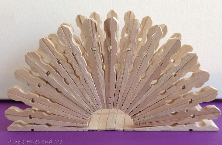 clothespin napkin holder, crafts, repurposing upcycling