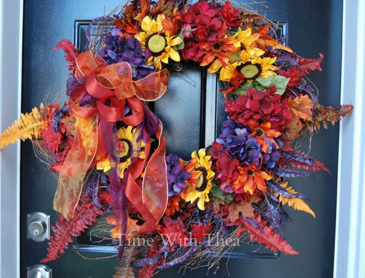 gorgeous two in one fall wreath that is easy to make, crafts, how to, seasonal holiday decor, wreaths