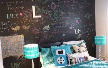 Creating a Chalkboard Feature Wall for Your Teen's Room