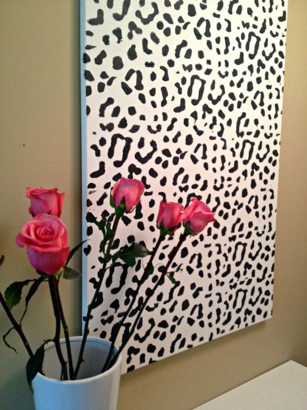 wall art leopard print tutorial easy, crafts, home decor, wall decor