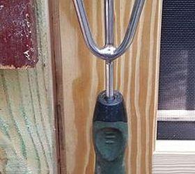 My Garden Tool Turned Door Handle, Gardening, Outdoor Living, Repurposing  Upcycling, Tools