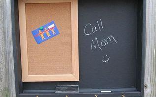 chalkboard paint memo board drawer repurpose, chalkboard paint, crafts, repurposing upcycling