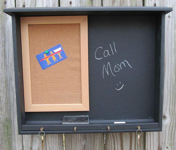 Chalkboard Paint Memo Board Drawer Repurpose Crafts Repurposing Upcycling