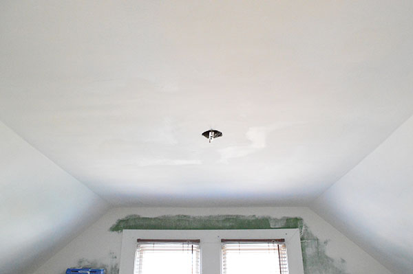 Repaired drywall, ready for priming.