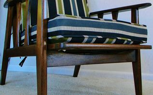 chair mid century modern lounge redo, home decor, how to, painted furniture