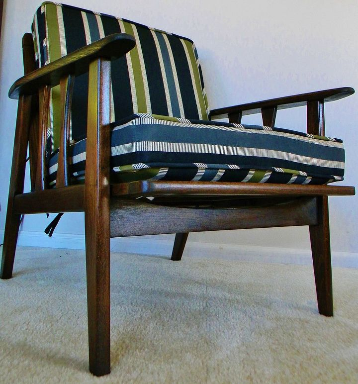Tremendous Mid Century Modern Lounge Chair Redo Hometalk Squirreltailoven Fun Painted Chair Ideas Images Squirreltailovenorg
