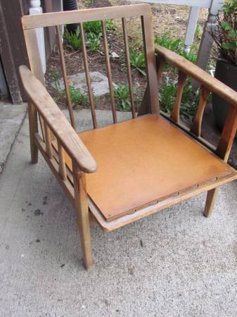 Peachy Mid Century Modern Lounge Chair Redo Hometalk Squirreltailoven Fun Painted Chair Ideas Images Squirreltailovenorg