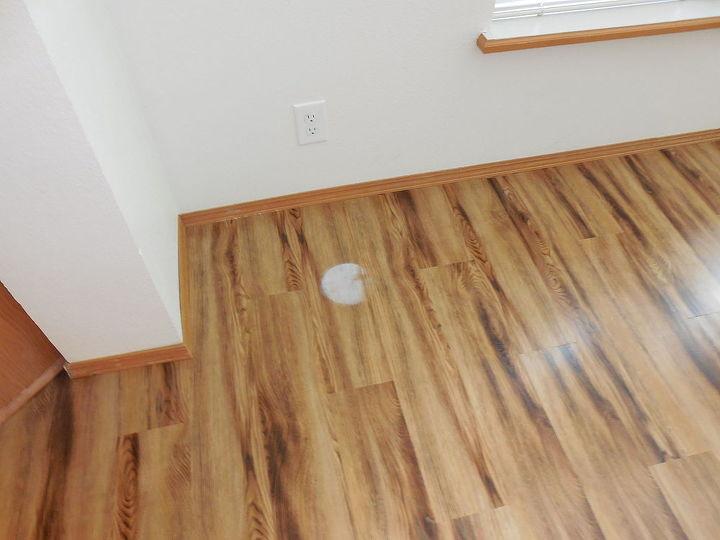 vinyl floor planking white spot help strain, cleaning tips, flooring, home maintenance repairs, very very noticeable