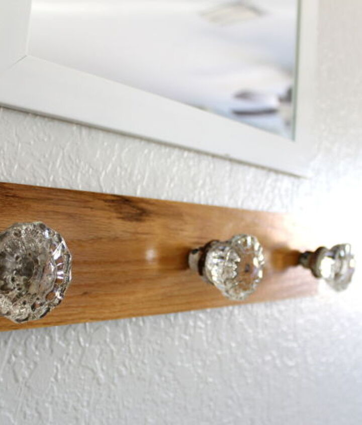 foyer coat rack glass door knob repurpose, foyer, wall decor