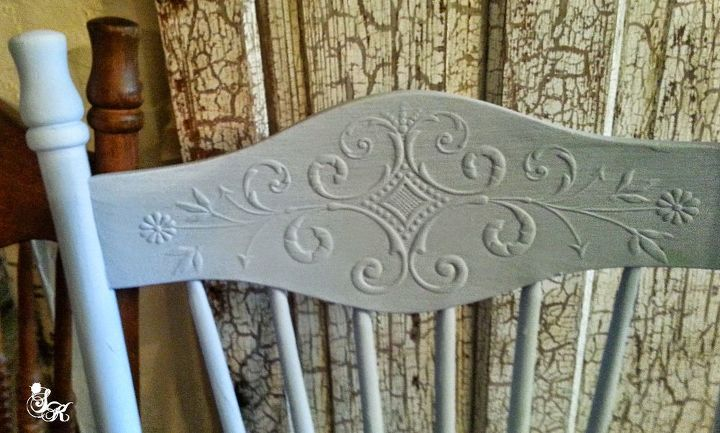 painted furniture stencil french blue, painted furniture, painting, reupholster, woodworking projects