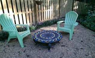 backyard ideas firepit table upcycle garden, outdoor living