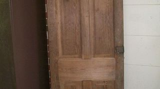 using old windows in your decor, home decor, repurposing upcycling, One of the interior doors with no refinishing