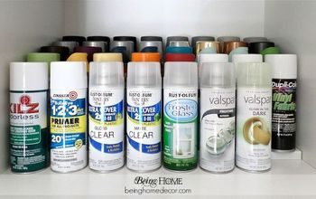 Easy Spray Paint Organization