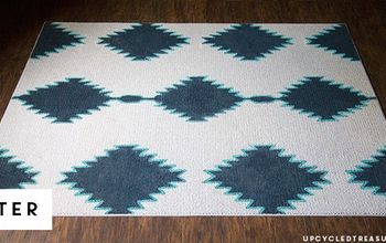 DIY Painted Rug Inspired by West Elm