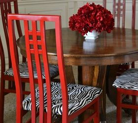 Red Dining Room Ideas Part - 42: Diy Red Dining Room Chairs, Dining Room Ideas, Painted Furniture,  Reupholster