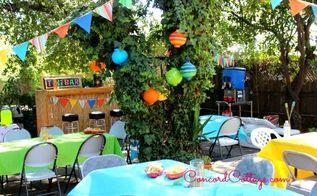 Backyard Ideas Luau Birthday Decor